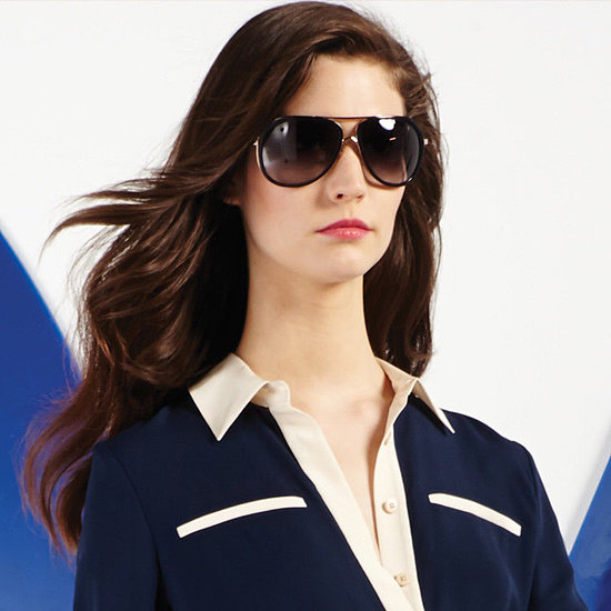 Sleek aviators add polish to the designer's pajama-inspired designs. Source: Diane von Furstenberg