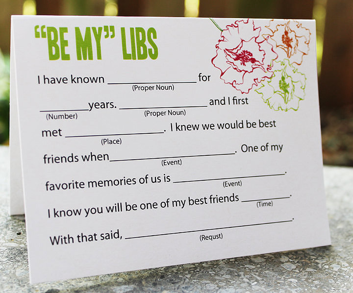Fill Out Mad Libs