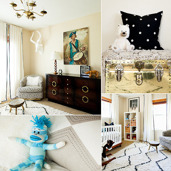 Little Luke's Brassy, Modern, One-of-a-Kind Nursery
