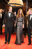Kate had William by her side when she wore a black lace gown to attend the January 2012 premiere of War Horse in London.