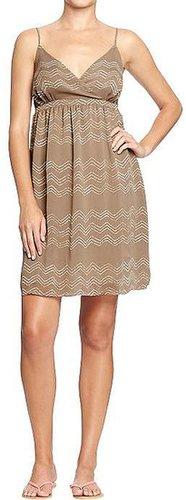 Women's Chiffon Cross-Yoke Sundresses