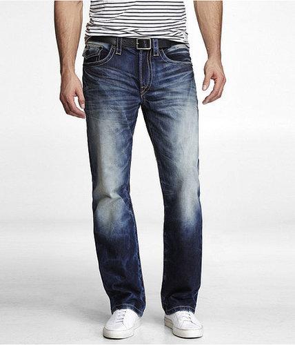 Blake Thick Stitch Loose Fit Boot Cut Jean