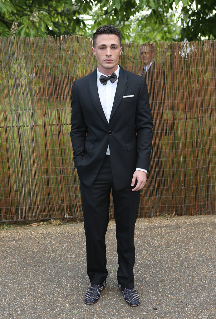 MTV star Colton Haynes looked dapper in all black and a bow tie.
