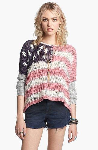Free People Flag Sweater