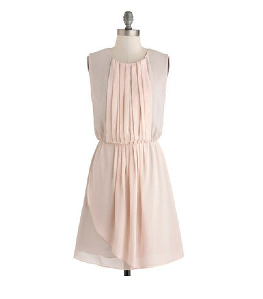 Soft and feminine with just the right shade of pink, this ModCloth Your Two Colors Dress ($45) is the prettiest kind of Summer dress.
