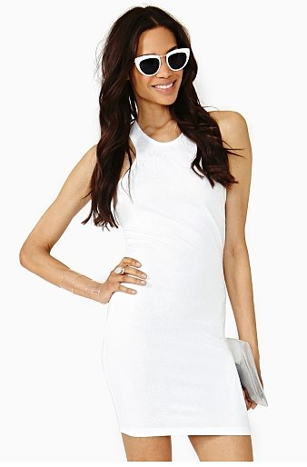 This white-hot Nasty Gal Paisley Racer Dress ($48) will serve you well though Summer party season.