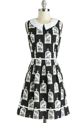 All Eyes on Unique Dress in Birdcage