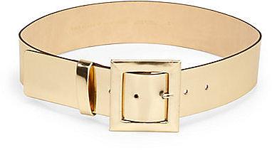 Kate Spade New York Metallic Leather Wide Belt
