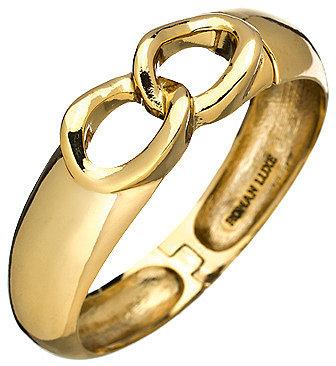 Roman Luxe Gold Chain Bangle Bracelet