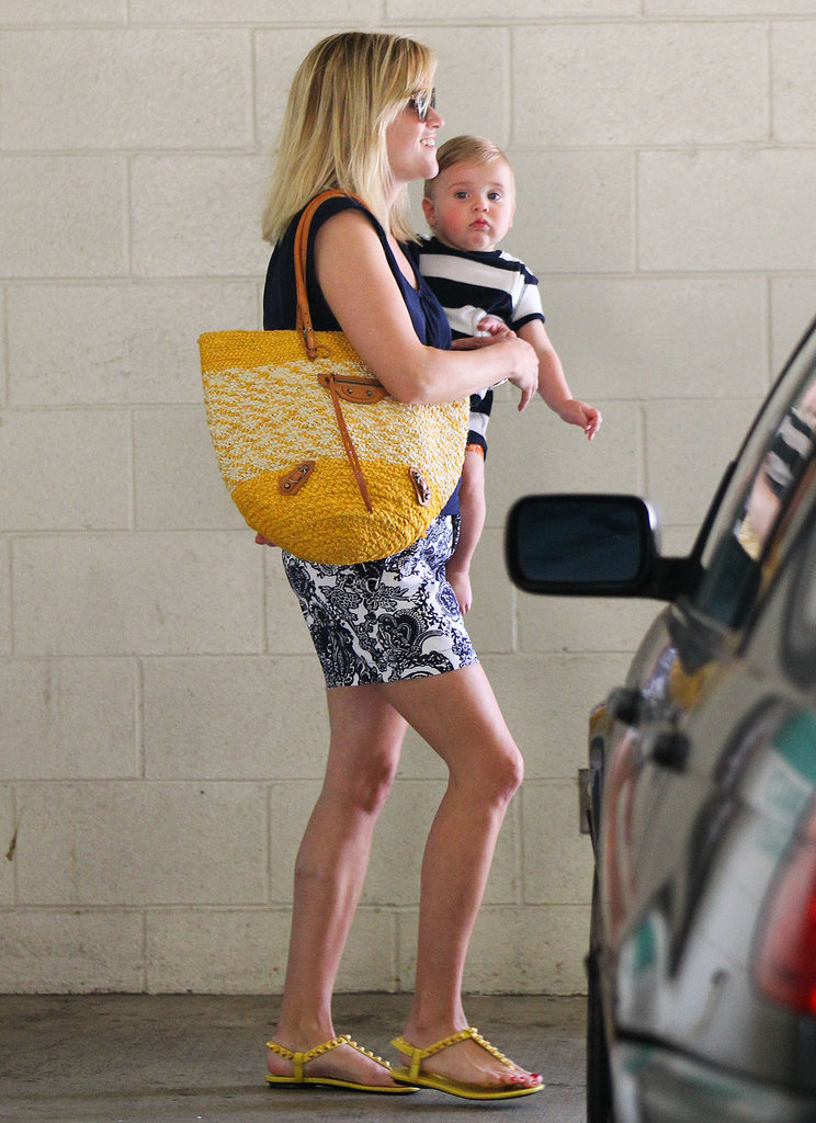 Reese Witherspoon smiled while she took her son Tennessee Toth to the doctor's office in LA on Wednesday.