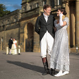 A couple in costume participated in the Pride and Prejudice Ball at England's Chatsworth House to celebrate the 200th anniversary of the book's publication.