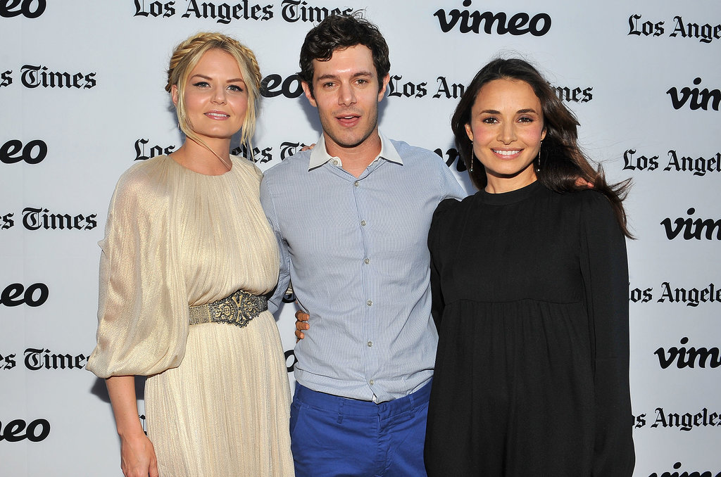 Adam Brody linked up with his costars Jennifer Morrison and Mia Maestro on the red carpet for their premiere of Some Girl(s) in LA.