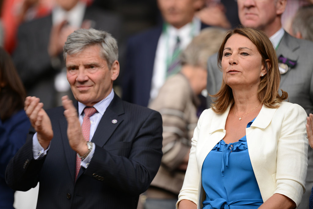 Kate Middleton's parents, Carole Middleton and Michael Middleton, watched Wimbledon day three from the stands in London on Thursday.