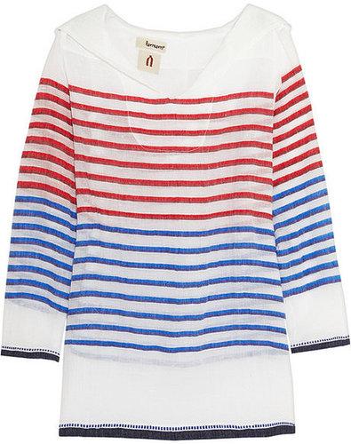 LemLem Konjo hooded cotton-blend voile tunic
