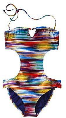 Mossimo® Women's Striped Monokini -Multicolor
