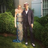 Derek Blasberg and Lauren Santo Domingo posed together before heading to a '20s-themed bash in Southampton, NY. Source: Instagram user derekblasberg