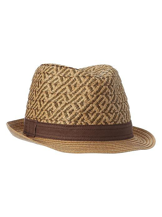 Gap Kids Two-Tone Straw Fedora