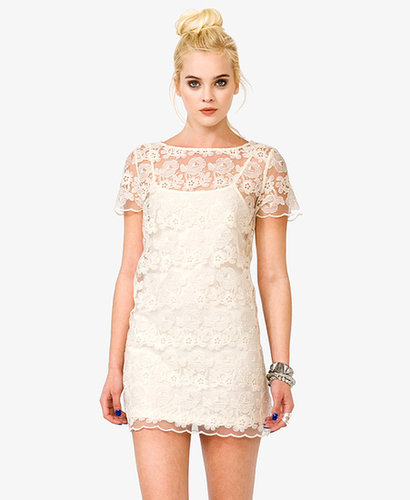FOREVER 21 Embroidered Lace Dress