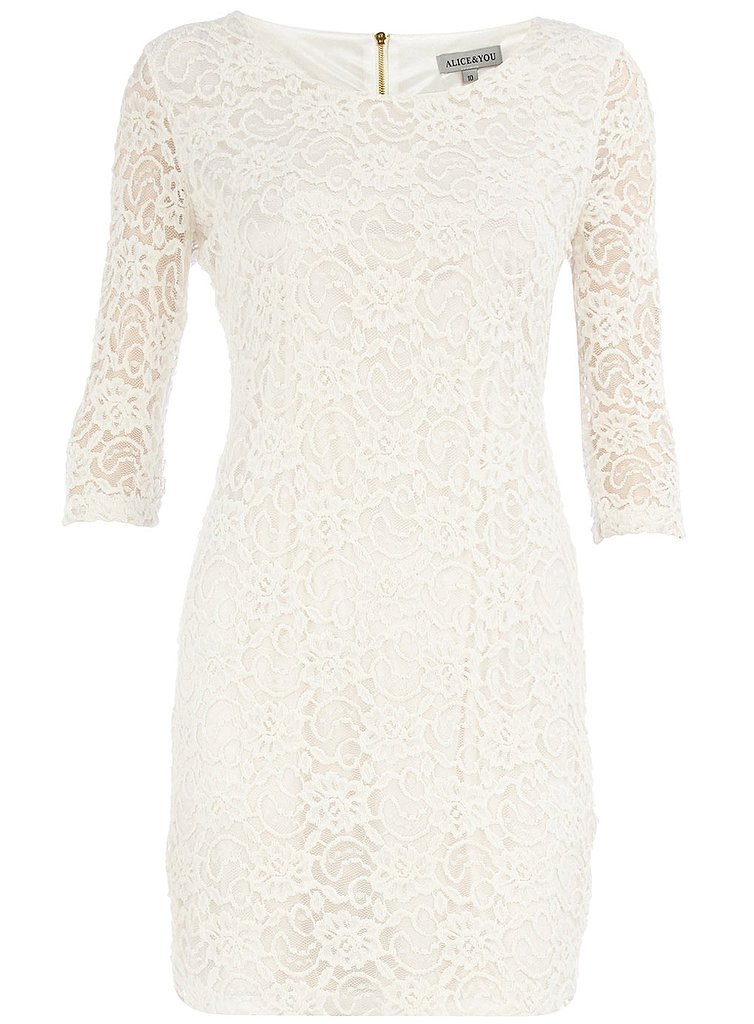 Your friends won't believe that this Dorothy Perkins Cream Lace Layer Dress ($44) rings in under $50.