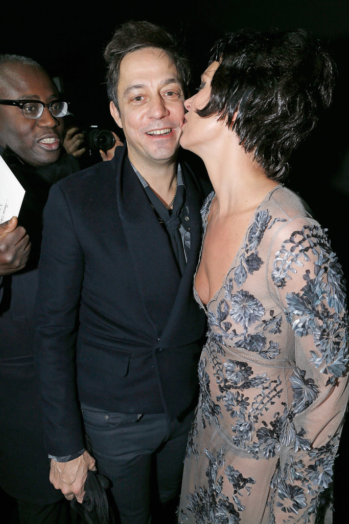 Jamie Hince came out to support Kate Moss as she walked the runway of the Louis Vuitton show during Paris Fashion Week in March 2013.
