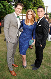 Princess Beatrice of York posed with MTV star Colton Haynes and Glee star Matthew Morrison at the annual Serpentine Gallery party in London in June 2013.