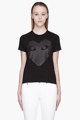 COMME DES GARÇONS PLAY Black blind Heart Emblem T-Shirt