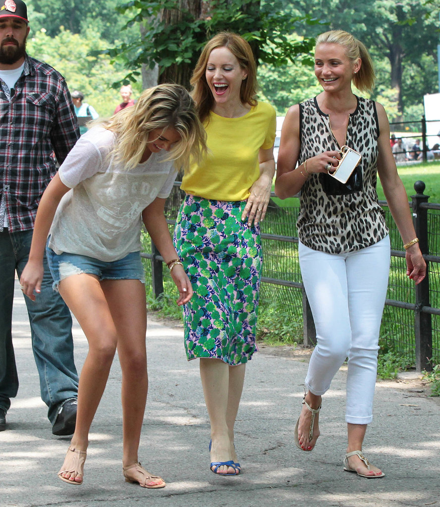 Kate Upton, Leslie Mann, and Cameron Diaz shared a laugh.