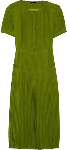 Burberry Prorsum Silk-georgette dress