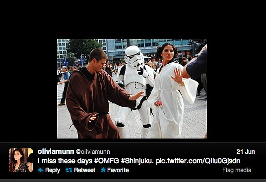 Actress Olivia Munn, in super fab Princess Leia cosplay, throws it back to her Attack of the Show! days.