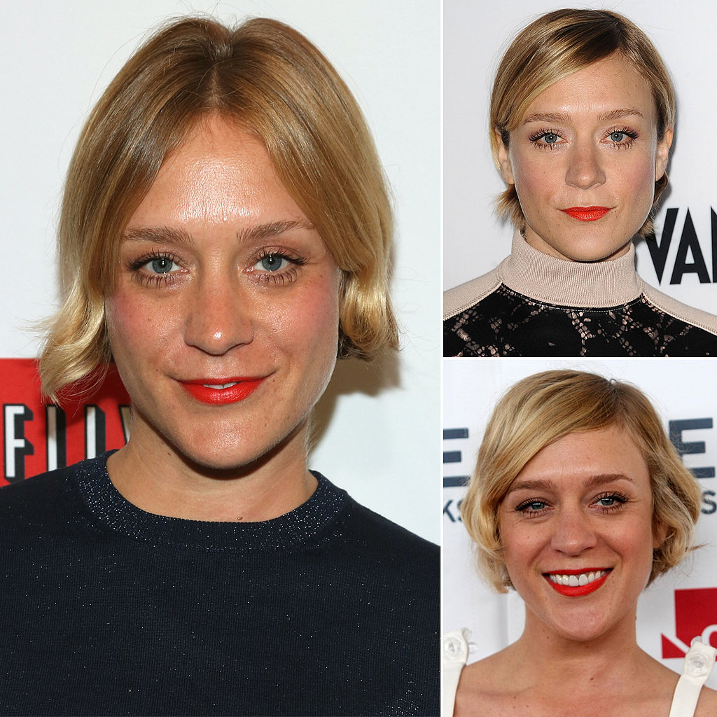 Who: Chloë Sevigny The look: Tangerine lipstick We've seen Chloë sporting this lipstick hue at a bevy of events, be it casual or formal. For a similar hue, try Revlon Moon Drops Lipstick in Orange Flip ($9).