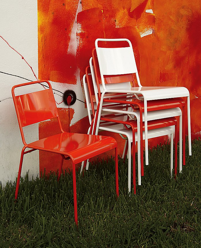 Use these bright stacking chairs ($47, originally $80) as extra seating for parties year-round.