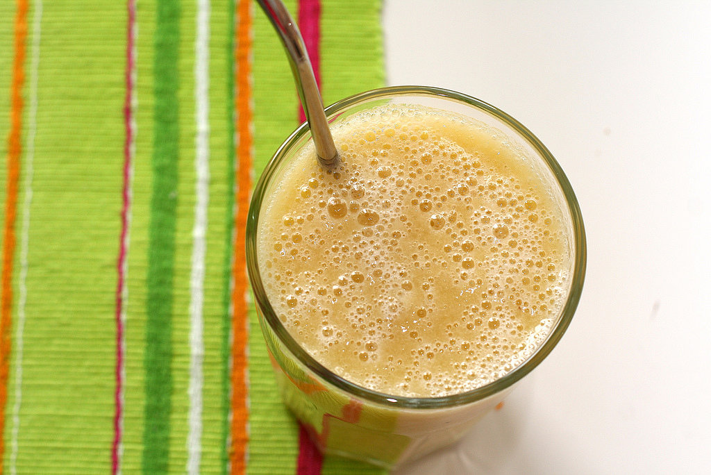 Melon, Banana, and Orange Juice Smoothie