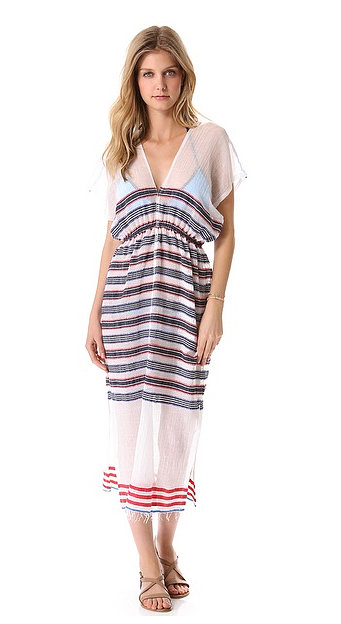 There's a reason LemLem Adersh is known for crafting the perfect cover-up — beachy, breezy, and finished with sharp stripes. Our getaway bag wouldn't be complete without one of these Lemlem Adersh Cover-Up Dresses ($248). — HW