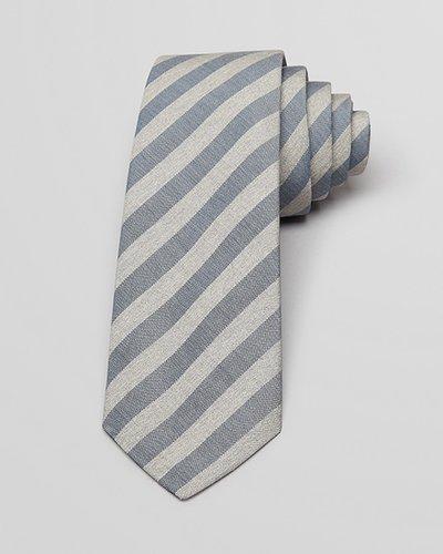 Theory End on End Bar Stripe Skinny Tie