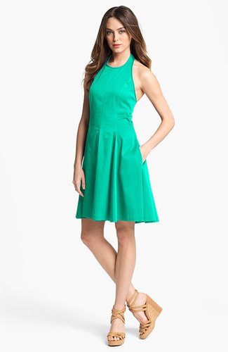 Jessica Simpson Fit & Flare Halter Dress