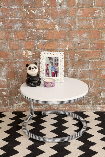 Black & White Rope Side Table