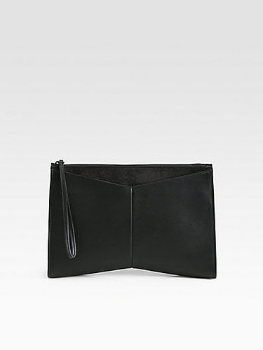 Narciso Rodriguez Mixed-Media Oversized Clutch