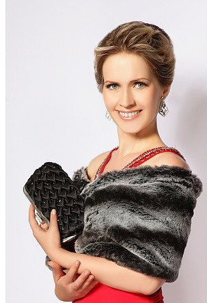 chinchillas faux fur shawl, fur wrap