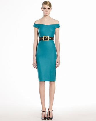 GUCCI Stretch Flannel Shift Dress