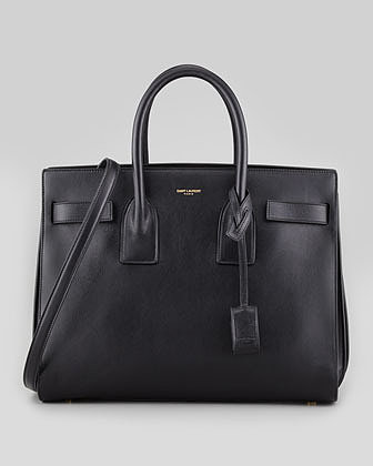 Saint Laurent Sac de Jour Small Carryall Bag, Black