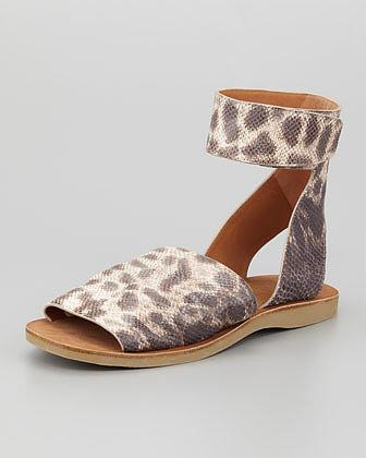 Vince Sadie Ankle-Strap Flat Sandal, Natural
