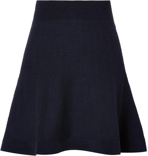 Sandro Cotton Blend Jolie Skirt in Navy