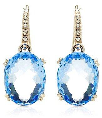 Small Oval Drop Earrings