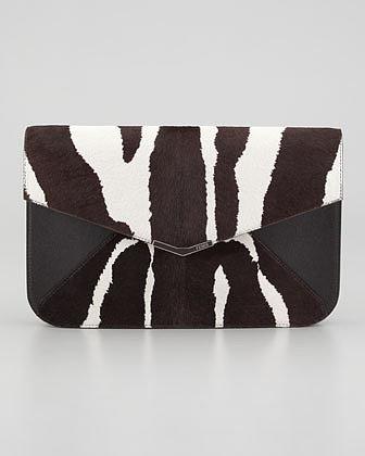Fendi 2Jours Calf Hair Clutch/Wristlet Bag