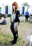 Florence Welch wore a fringed look at the festival.