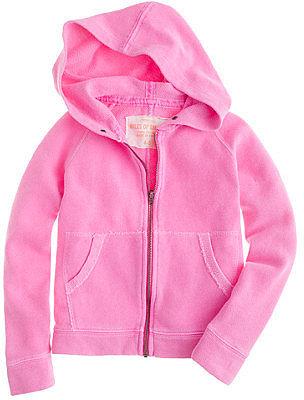 Girls' wafer terry hoodie