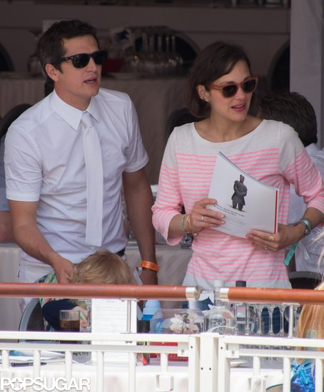 Marion Cotillard and Guillaume Canet brought their son, Marcel, to the Monaco Jumping Show.