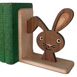 Graphic Spaces' Wooden Bunny Bookend