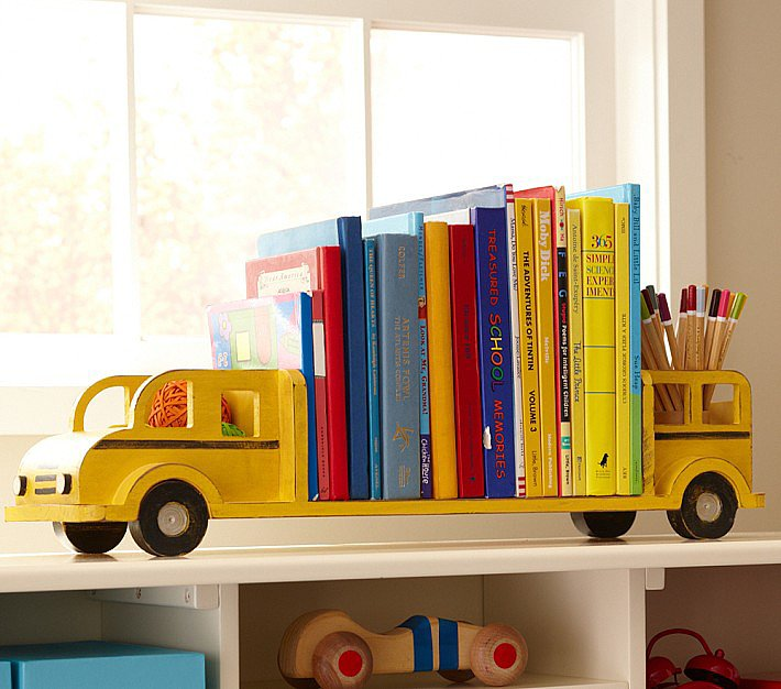 Pottery Barn Kids School Bus Bookends