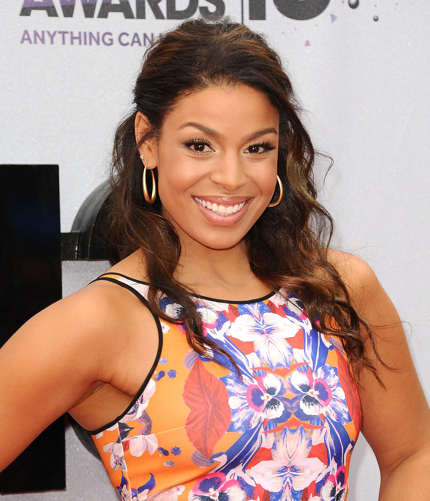 Jordin Sparks Wore Her Curly Hair Blown Out Into Beachy